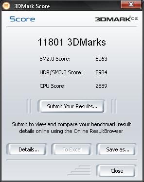 Scor 3DMark 2006, Radeon 4850, E2180@3ghz