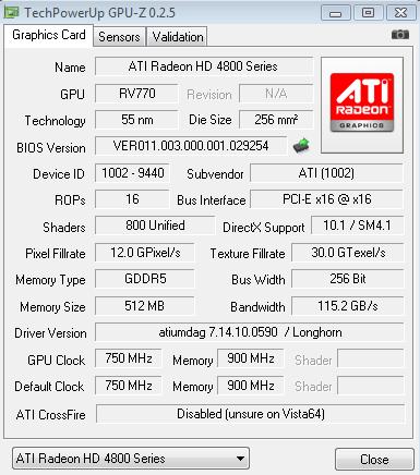 4870 SPECS GPU-Z