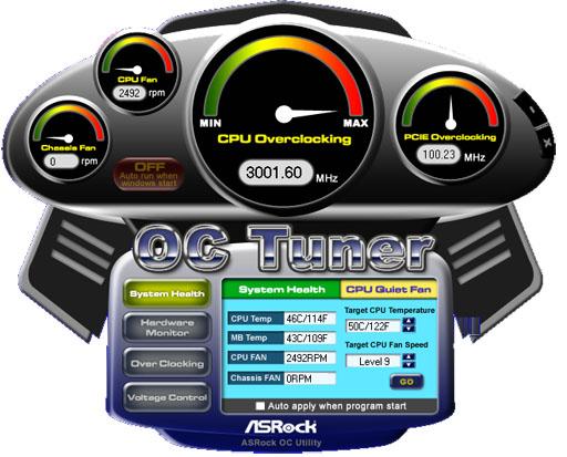 Asrock OC Tuner 3Ghz