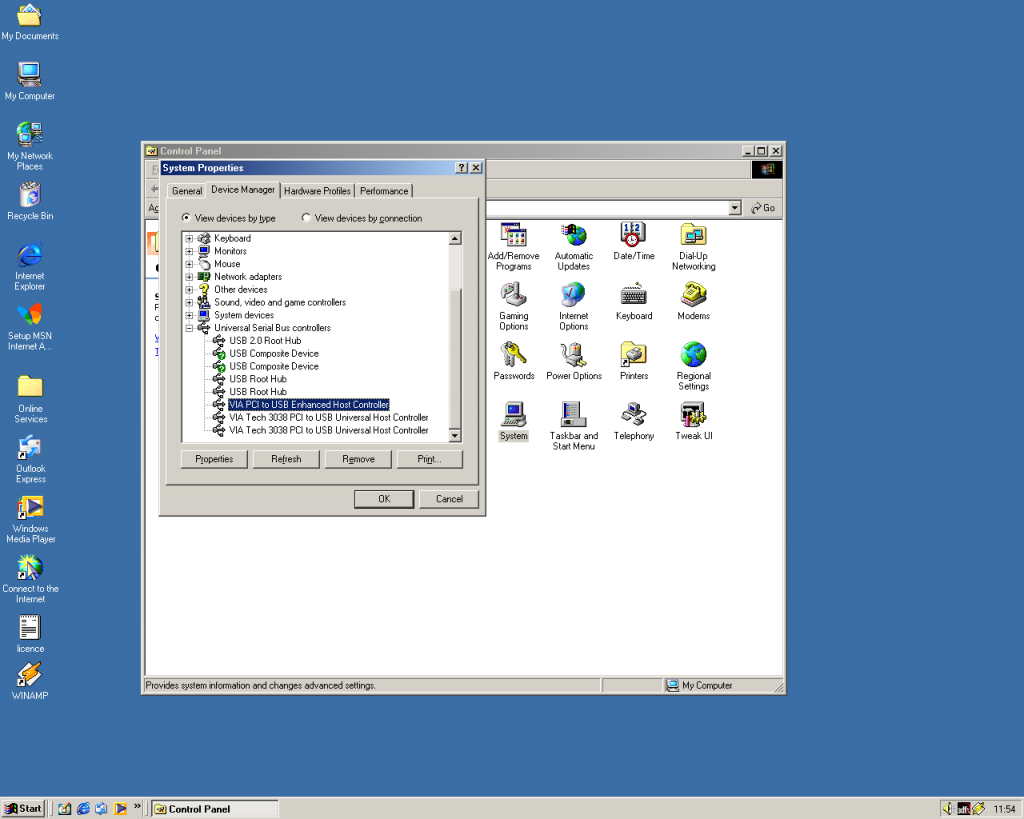 VIA 6212L on Windows ME