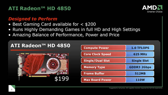 4850 amd specifications
