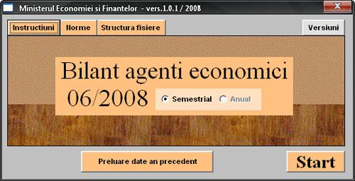 Bilant agenti economici 2008