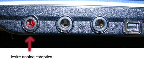 iesire optica laptop - necesita mufa mini plug